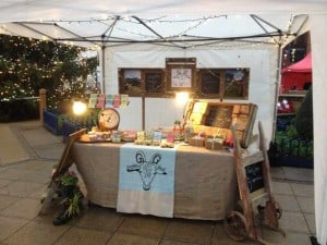 Mostly upcycled bits on our stall.