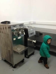 The new parlour, ice creams too tempting for little ones!